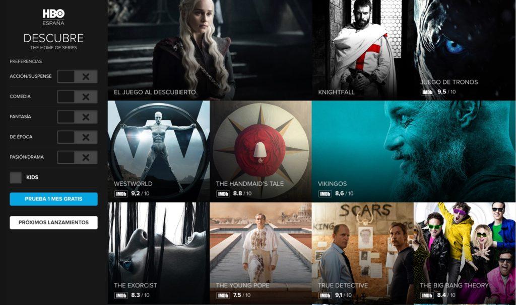 HBO pantalla