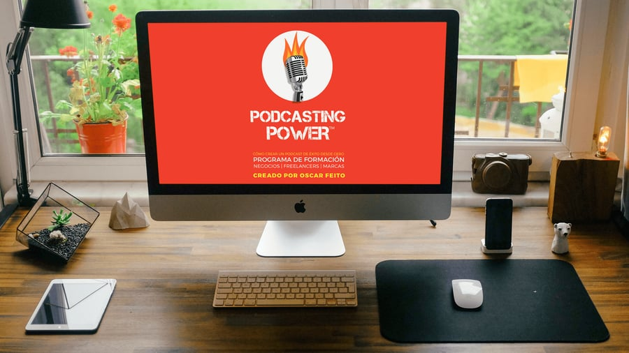 Podcasting Power.  El curso para crear podcast de Oscar Feito