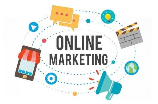 Diferentes iconos relativos al marketing online