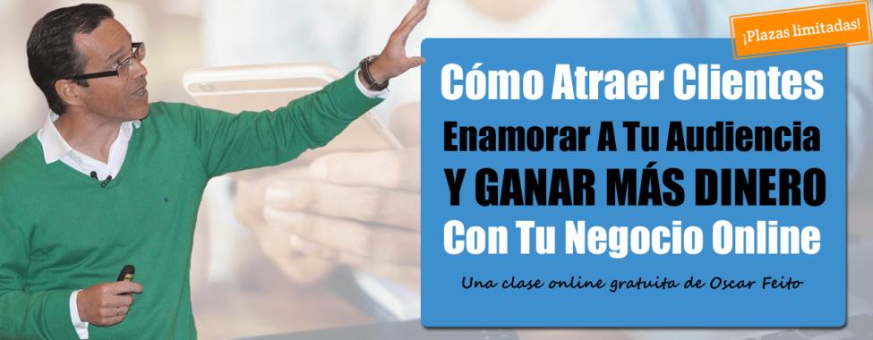 Foto de Oscar Feito anunciando un webinar