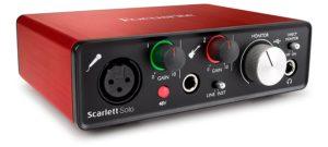 Tarjeta de sonido Focusrite Scarlett 2i2 Solo