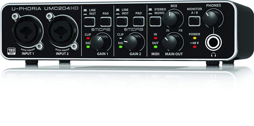 Tarjeta de sonido Behringer UMC204HD - U-phoria