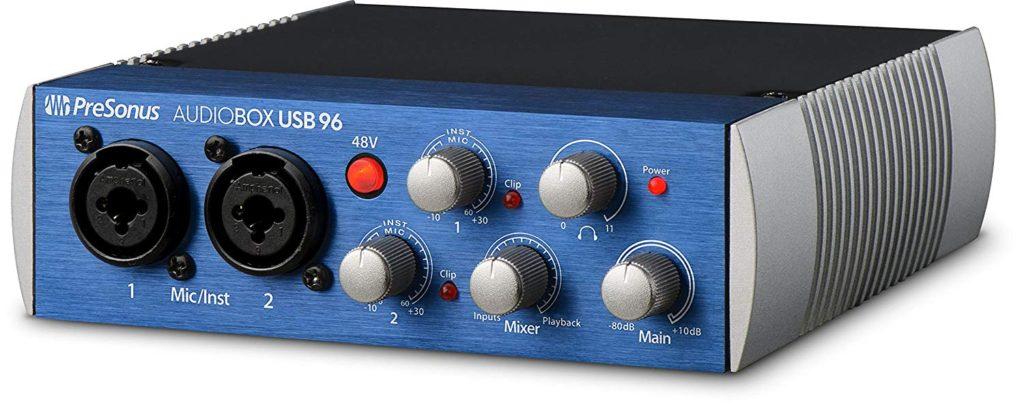 Tarjeta de sonido PreSonus AudioBox 96
