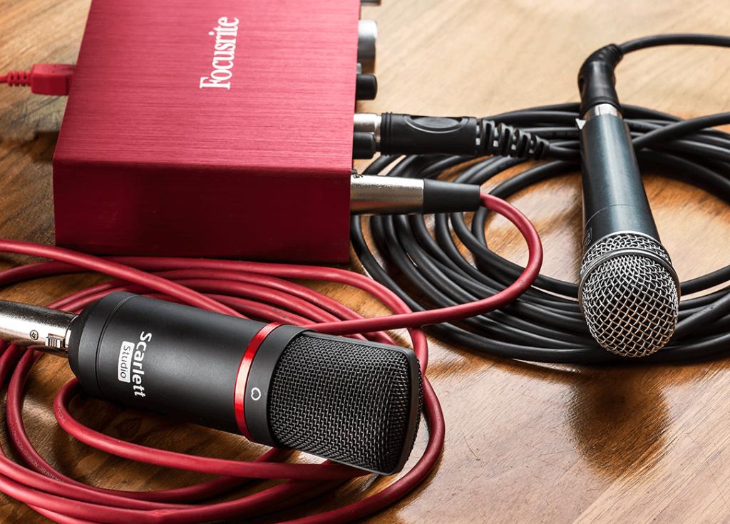 interfaces de audio para grabar podcast